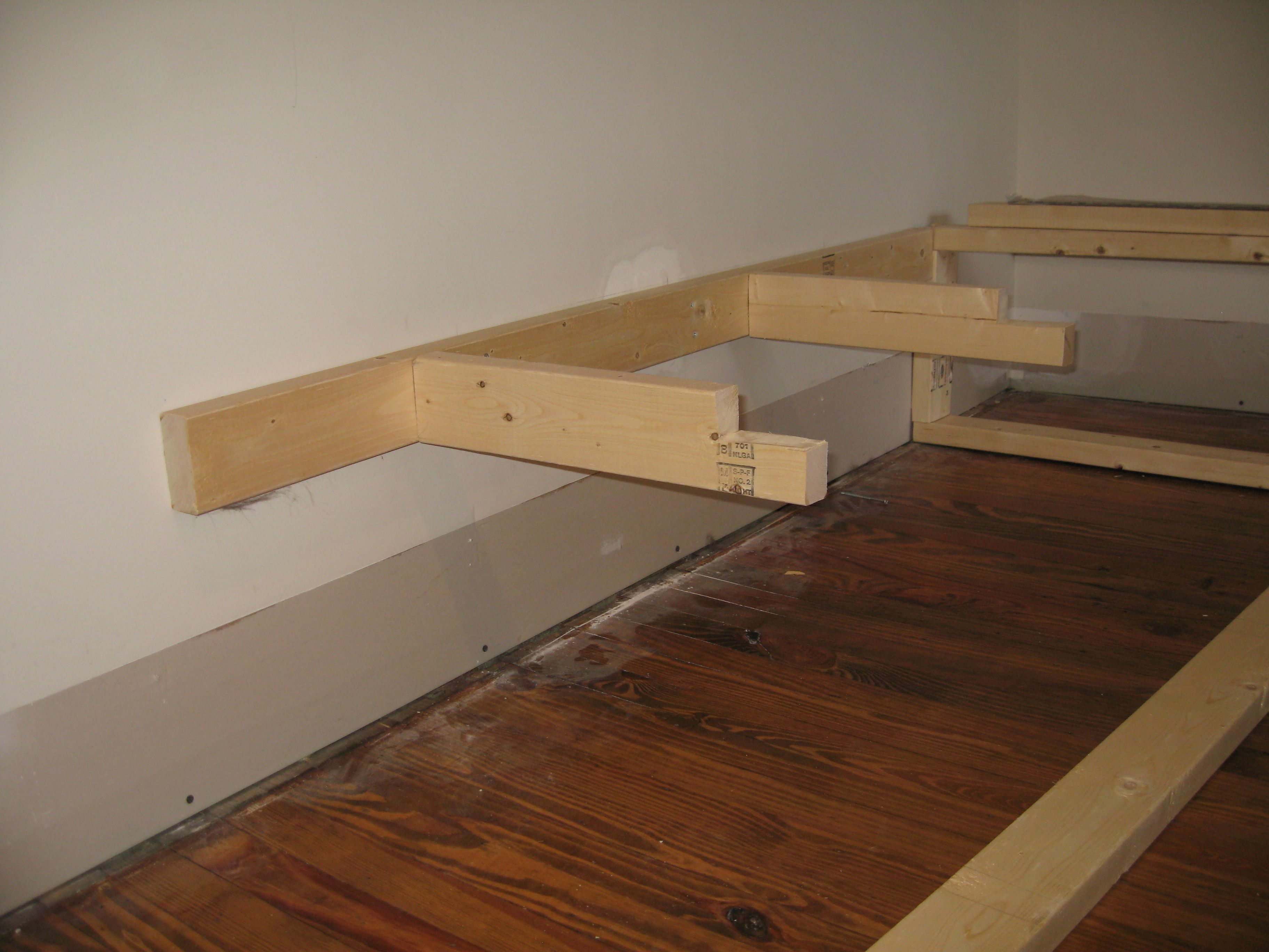 Building the banquette frame jill carson - Building a kitchen bench ...